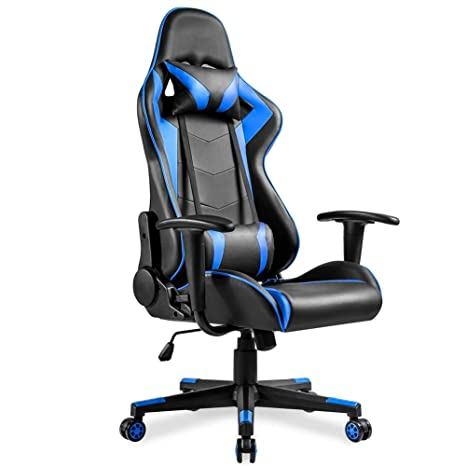 Admirable Amazon Com Cozyhome Bestone Gaming Chair White Reclining Ocoug Best Dining Table And Chair Ideas Images Ocougorg