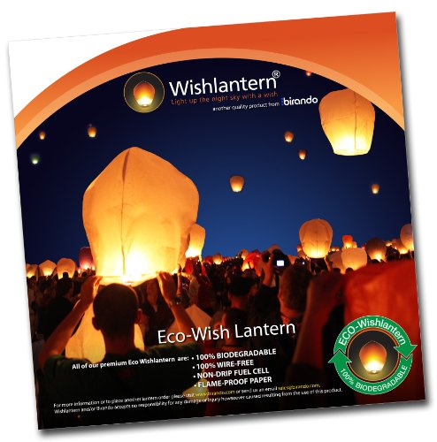 Eco White Wish Lanterns (Pack of 10) -
