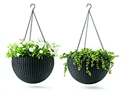 Keter 221486 Hanging Planter Set, Espresso Brown