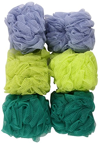 EcoTools Ecopouf Bath Sponge, Assorted Colors (Pack of 6)