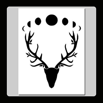 Amazon 7 X 9 Wiccan Horned God Stag Head With Moon Phases