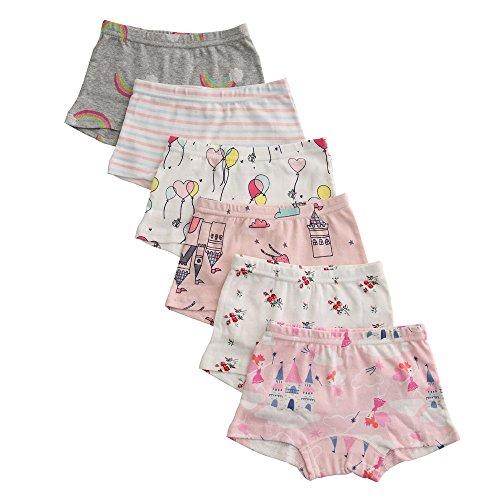 benetia Girls Underwear Briefs Cotton 6-Pack for Size 8 -