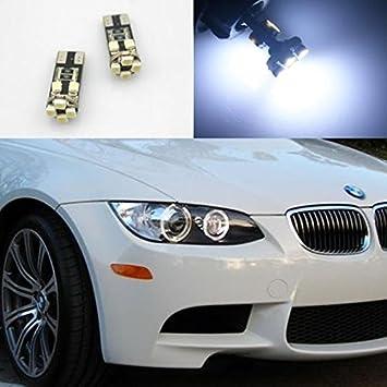 2x White Part LED Angle Eye Halo RIing Light 15-SMD For 5 SERIES E60 E61 PRE LCI