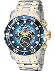 Invicta Mens Disney Limited Edition Quartz Stainless Steel Casual Watch, Color:Two Tone (Model: 23769)
