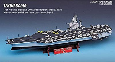 Academy 14209 CVN-70 U.S.S.CARL VINSON 1/800 Aircraft Carrier Plastic Model Kit /item# G4W8B-48Q13254