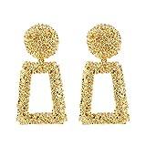 Golden/Silver Raised Design Statement Earrings