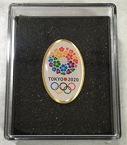 Cased Tokyo Olympics 2020 Bid pin badge round type cherry lease design Tokyo Olympics Pins