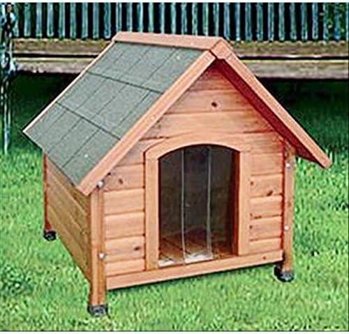 sunray Perro caseta Perro de Madera hidrorrepelente para Exterior con Cortina TG XXL: Amazon.es: Jardín
