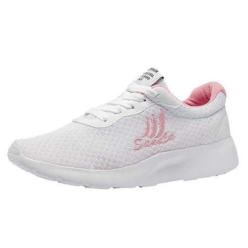 LHWY Moda Mujer Casual Zapatillas de Deporte de Malla Transpirable Zapatos de Estudiante Zapatos para Correr: Amazon.es: Zapatos y complementos