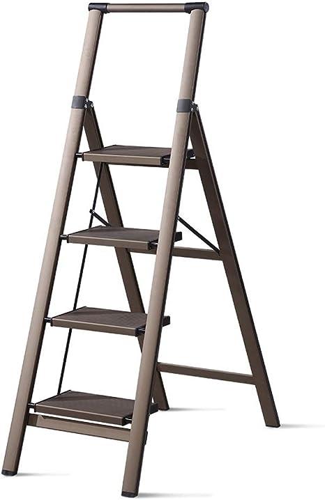 M-Y-S Escalera de 4 peldaños, plegable de aluminio ligero antideslizante Pedal Taburete de 4 peldaños for trabajos de jardinería doméstica Escalera de tijera for interiores y exteriores: Amazon.es: Bricolaje y herramientas