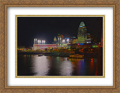 - Great American Ballpark 2X Matted 36x28 Large Gold Ornate Framed Art Print from The Stadium Series