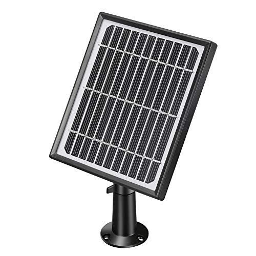 Lemnoi Wireless Rechargeable Battery Powered WiFi Camera Solar Panel, Power Supply for 1080P WiFi Outdoor/Indoor Home IP Solar Powered Security Camera