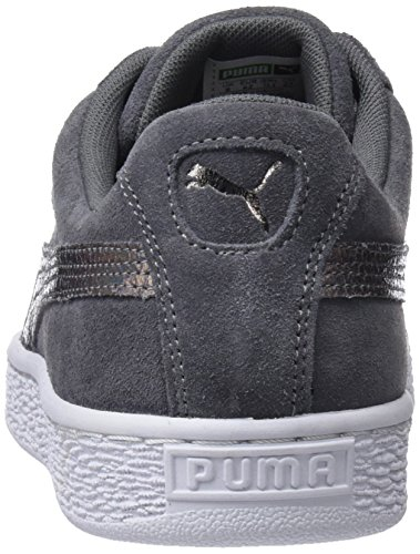 Femme Basses smoked Lunalux Pearl Sneakers Wn's Marron Suede Heart Puma qYwTPq