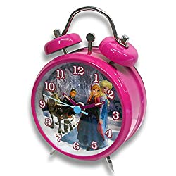 Frozen - Disney Matal Alarm Clock (The Cast - Anna, Elsa, Sven & Kristoff) (Size: 3 in diameter)