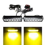 Yehard 6 LED Strobe Lights for Trucks Cars 12V Universal Amber Waterproof Emergency Light