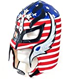 rey mysterio mask red - Del Mex Lycra Lucha Libre Adult Luchador Mexican Wrestling Mask Costume (Rey Mysterio (Red, White, Blue))
