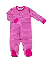 Kushies Baby Basic Sleeper, Fuchsia Stripe, 9 Month