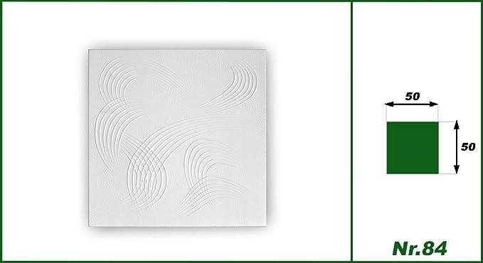 30 mètres carrés de polystyrène plaques Les Dalles Stuc Plafond Décor Plaques 50x50cm Nº 31