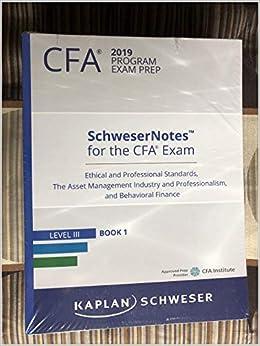 Anna besso nova : Kaplan schweser cfa level 1 2018 notes