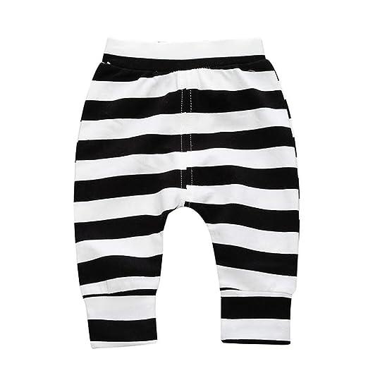 3615ec1a6999d5 Amazon.com: Esharing Newborn Baby Girl Boy Candy Pants, Cute Warm Striped  Pencil Leggings Trousers: Clothing