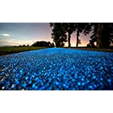 COCODE Glow in the Dark Pebbles and Stones for Walkway Yard Garden and Decor DIY Decorative Gravel Rocks in Blue(200PCS)