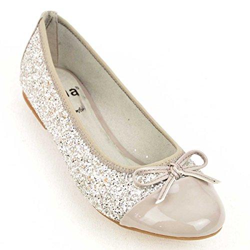 Jana 88 22108 28 298 - Bailarinas de sintético/textil para mujer gris gris gris