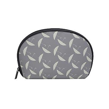 e32223086686 Half Moon Cosmetic Makeup Bag Umbrella Brown ... - Amazon.com