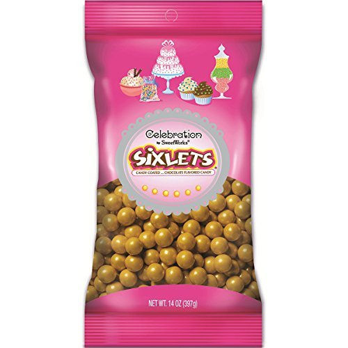 Gold Shimmer Solid Color Sixlets by SweetWorks