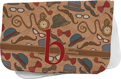 Vintage Hipster Burp Cloth (Personalized)
