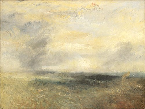 [High Quality Polyster Canvas ,the High Resolution Art Decorative Prints On Canvas Of Oil Painting 'Joseph Mallord William Turner Margate From The Sea ', 18 X 24 Inch / 46 X 61 Cm Is Best For Foyer Artwork And Home Gallery Art And Gifts] (Joseph From The Bible Costume)
