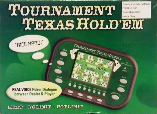Tournament Texas Hold Em Hand Held Electronic Game