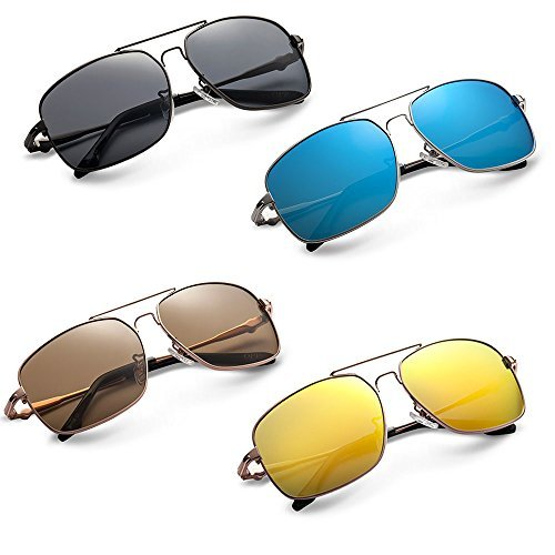 OPP Men's Classic Retro Sunglasses Metal Frame TAC Polarized Lens - Designer Glasses Online Uk Prescription