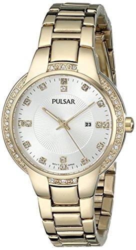 Pulsar Women's PJ2014 Analog Display Japanese Quartz Gold - Pulsar Wrist Gold Watch