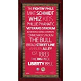 MLB Philadelphia Phillies Subway Sign Wall Art with Authentic Dirt from Citizens Bank Park, 16x32-Inch