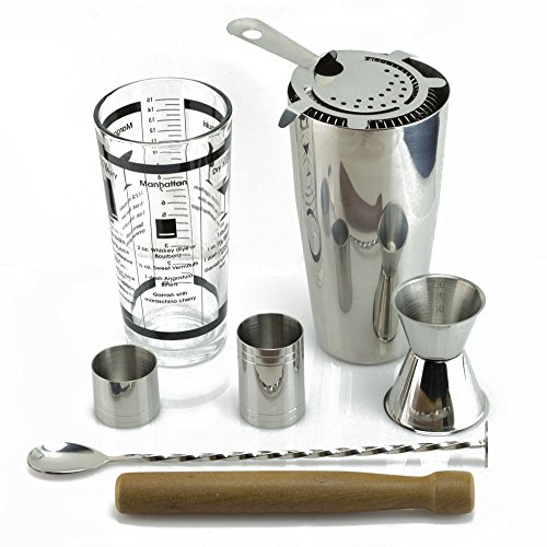 TeiKis Boston Cocktail Shaker Bartending Set Complete Bar Accessories Set