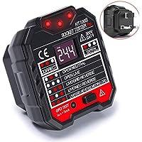 circuit breaker finder electric outlet tester socket tester 200~230V Automatic Electric Power Circuit Polarity Voltage Detector Wall Plug Breaker Finder Leakage Test With LED voltage display HT106B
