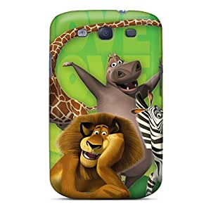 New Design Shatterproof Case For Galaxy S3 (madagascar Cartoons)