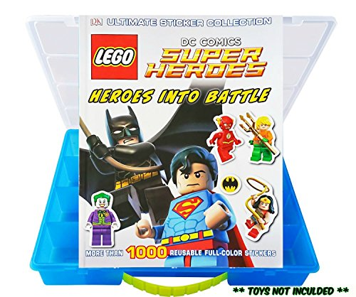 Life Made Better Official LEGO Super Heroes Sticker Book with Dimensions Compatible Storage Organizer, Blue, (Blue Ninja Turtle Name)
