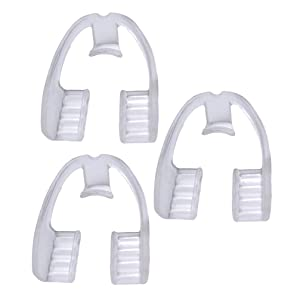 Garneck Dental Guard Sleeping Teeth Mouth Guard to Prevent Teeth Grinding Dental Protector 3pcs Size S-About 4 x 4.5 x 2.5cm (Transparent)
