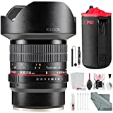 Rokinon 14mm f/2.8 ED AS IF UMC Lens for Sony E-Mount (FE14M-E) with Deluxe Accessory Bundle and Cleaning Kit
