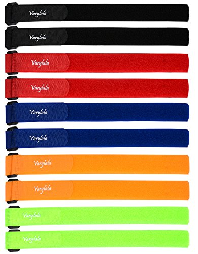 10 Pcs Versatile Hook and Loop Securing Straps Tie downs Fastening Stabilizer Straps (1x23.5) – Assorted Colors (Multi-color)