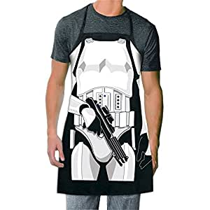 ICUP Star Wars - Stormtrooper  Be The Character Adult Size 100% Cotton Adjustable Black Apron