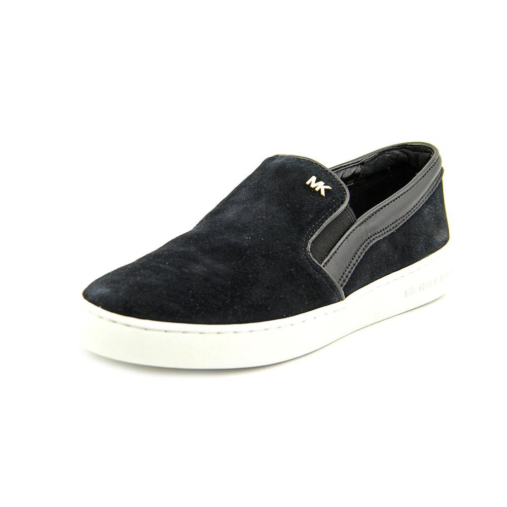 Michael Kors Womens Keaton Low Top Slip On Fashion, Black Suede, Size 8.0