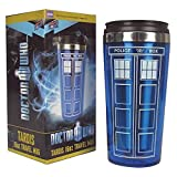 "Bif Bang Pow!""Doctor Who TARDIS"" Travel Mug, 16 oz, Blue"
