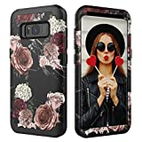 Galaxy S8 Plus Case,Digital Hutty 3 in 1 Shockproof Heavy Duty Full-body Protective Cover for Samsung Galaxy S8 Plus Flower (Marble Flower)