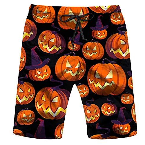 Halloween Pumpkins On Black Holidays Mens Boardshorts Swim Trunks Quick-Drying Running Shorts XL]()