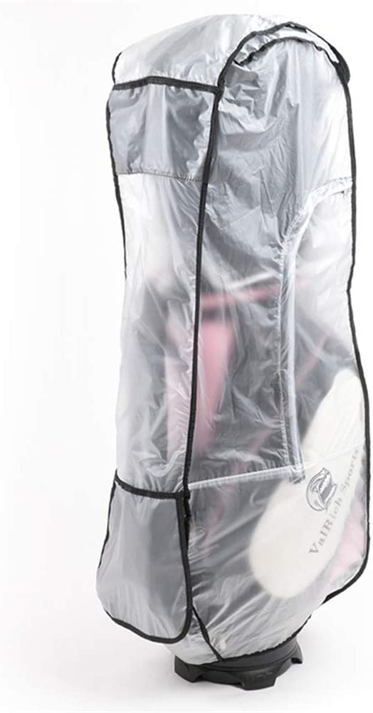 Cheng Yi Golf Bag Rain Cover,Waterproof PVC Clear Rain Cover for Golf Bag,Golf Bag Rain Protection Cover with Hood for Golf Push Carts