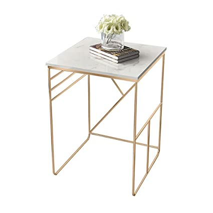 Amazon.com: EASYXIU Modern Corner Sofa Side Living Room Iron Marble ...