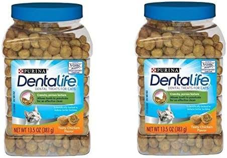 Purina DentaLife Tasty Chicken Flavor Dental Treats for Cats, 13.5 oz (13.5 oz (Pack of 2))