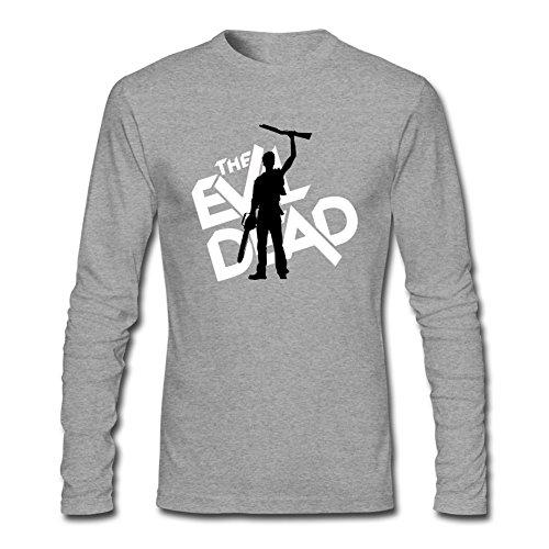 SDUAE Men's The Evil Dead Logo Long Sleeve T Shirt XXXL Grey -